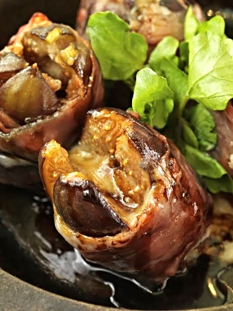 Roasted figs wrapped in prosciutto, gorgonzola and aged balsamic