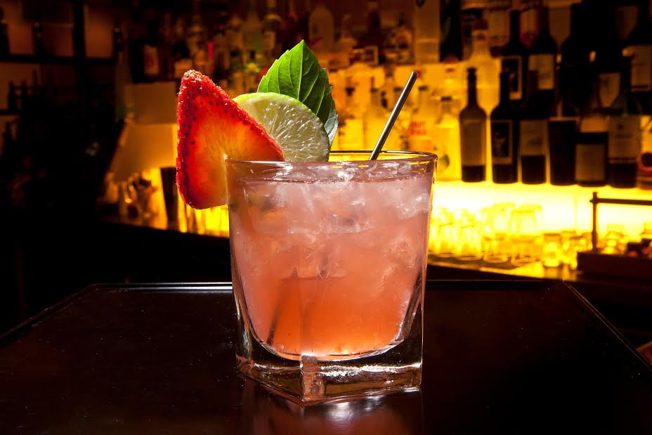 Strawberry Margarita     is a fruit-laced twist on the classic cocktail that marries Avión tequila with agave nectar, fresh strawberries and basil.