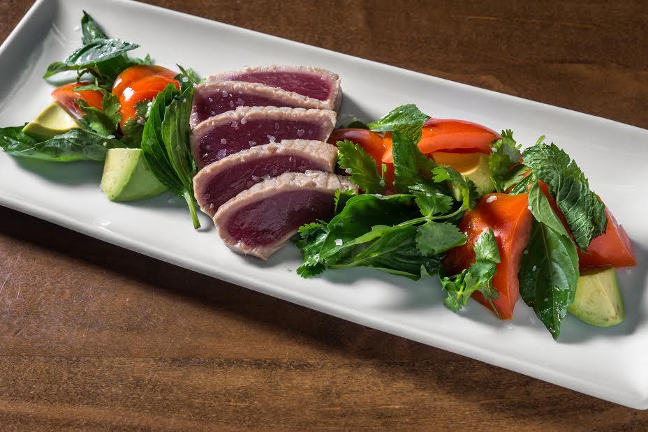 Tuna Tataki & Tomato Salad