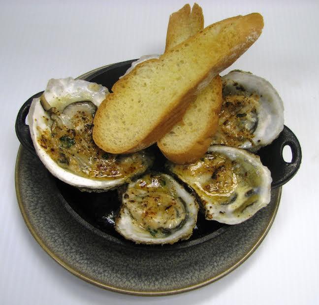 Legal Crossing (558 Washington Street, Boston)Grilled Oysters ($13) - garlic butter, parmesan
