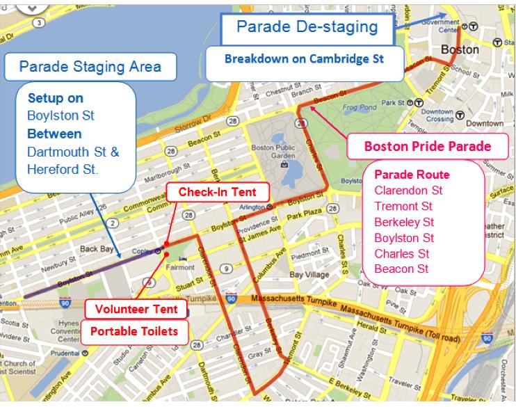 - Parade tentative route