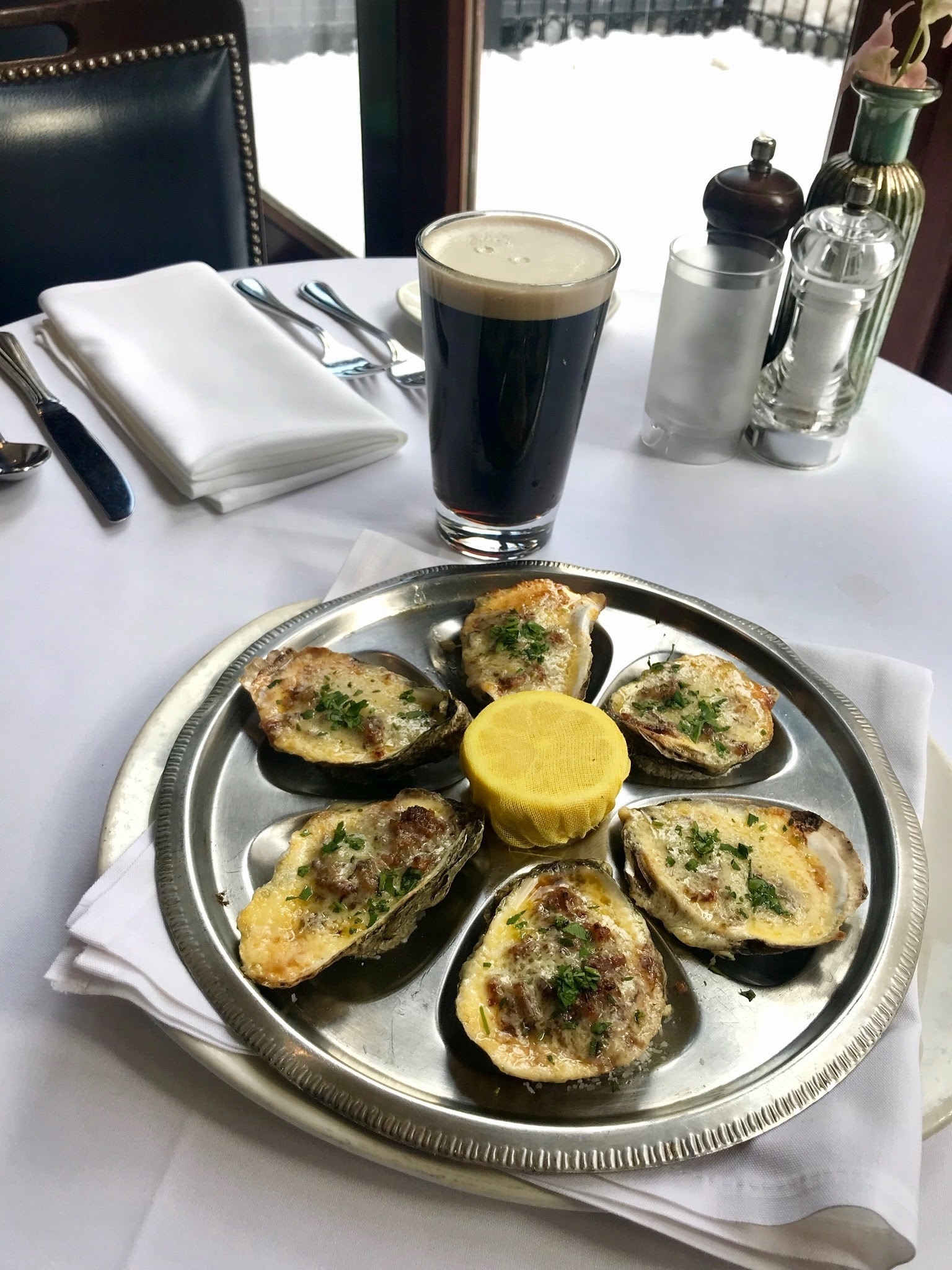Oysters Kirkpatrick by Chef Dan Billo of Atlantic Fish. Photo by Atlantic Fish