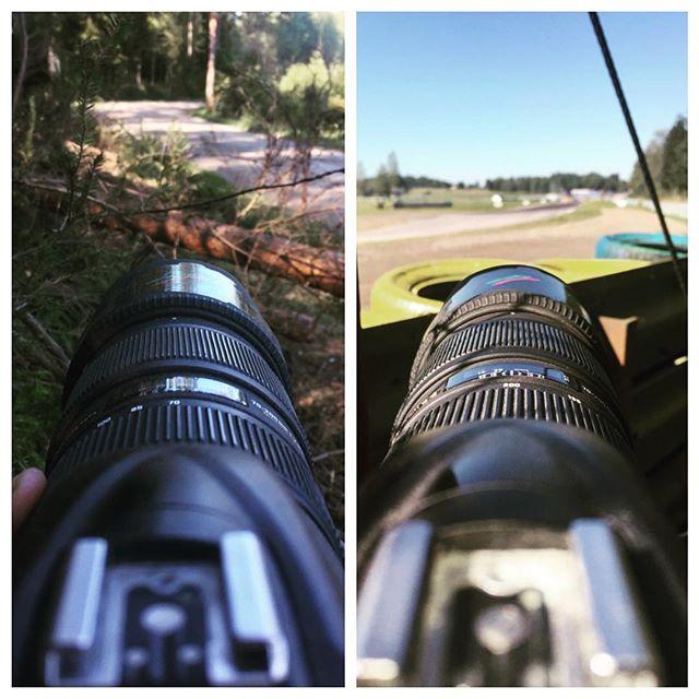 Rally i skogen igår, racing på asfalt idag. Kanonväder! #rally #timeattack #gellerasen