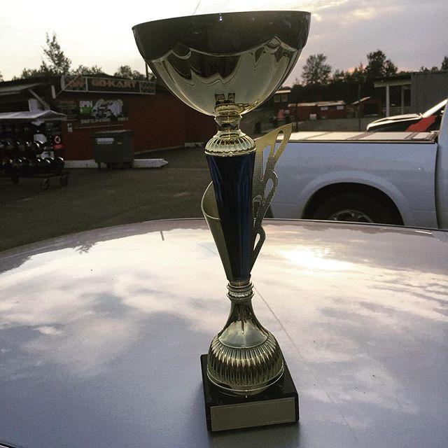 Det blev en andraplats i årets @richardgoran Grand Prix! Första gången på pallen så jag är grymt nöjd. #gorace #gokart #orebro