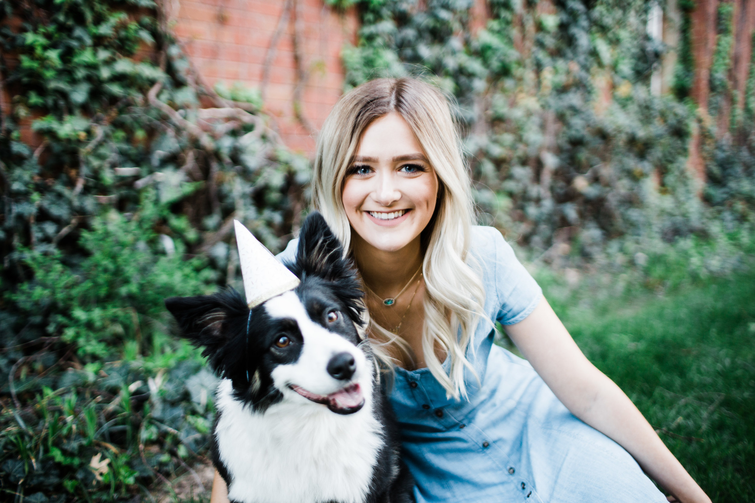 Senior pictures with dog.
