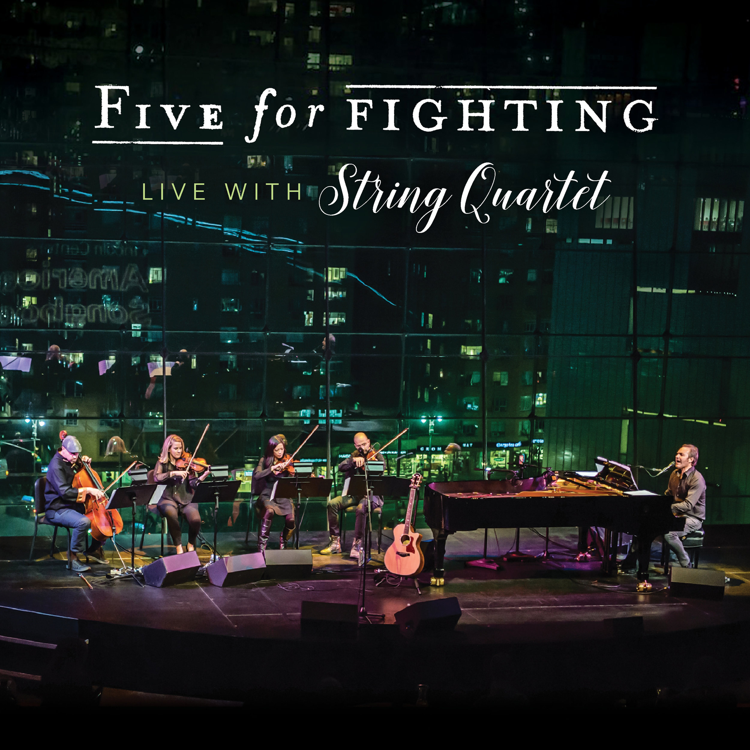 """Five For Fighting - Together with the Five For Fighting string quartet John Ondrasik will be on tour playing a series of unique and intimate dates. We caught him to discuss the new record, tour and recording process. The new album will be exclusively available to those attending the shows until its release later this fall. Five For Fighting will be playing the hits, such as """"Superman"""" and """"100 Years"""" along with fan favorites,"""