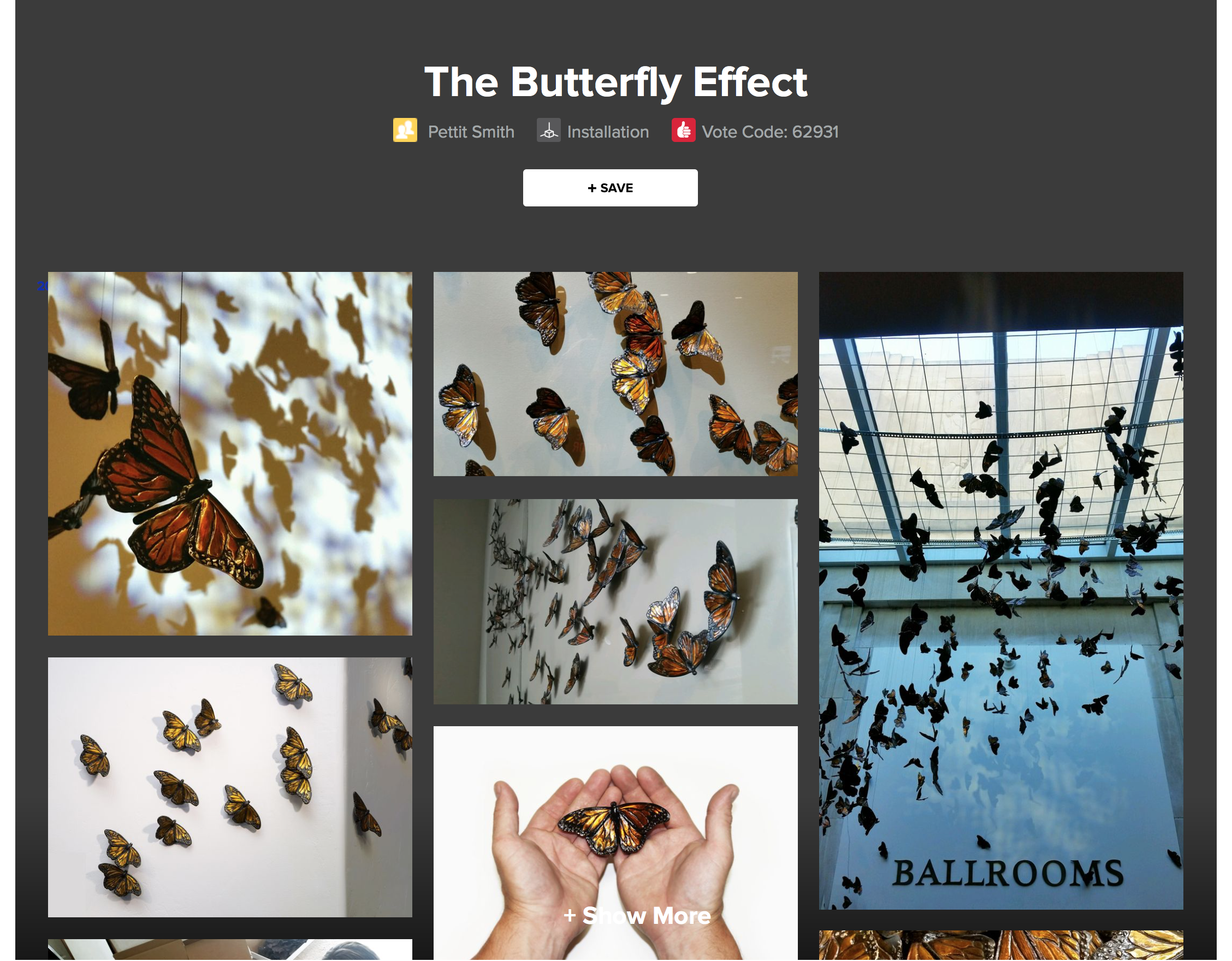 Many of you have asked for a link to see photos of The Butterfly Effect since it won Best Installation at ArtPrize 2016. Please click this preview image to open our ArtPrize page which will remain up until ArtPrize 2017 begins.