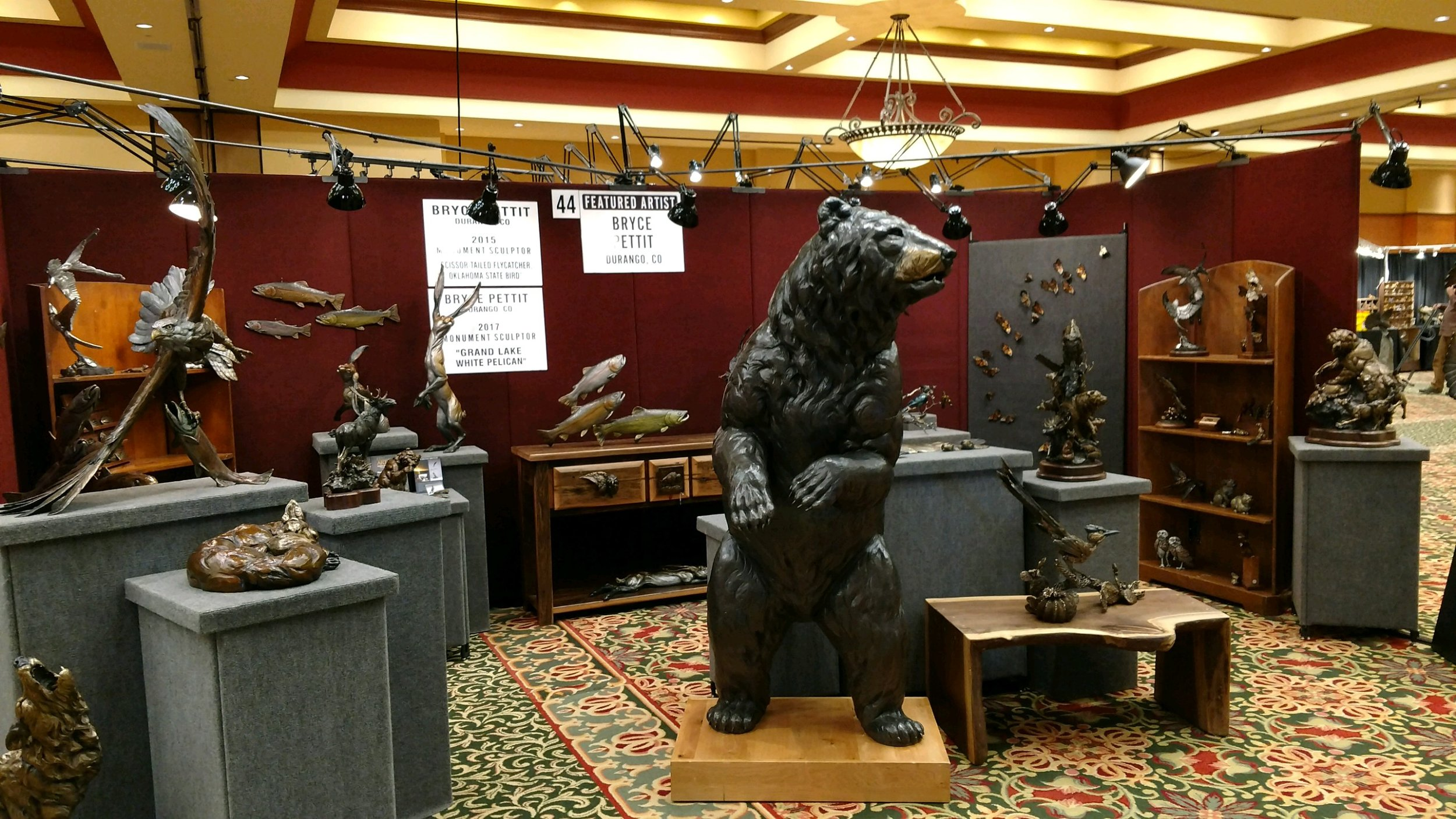 Natureworks Art Show   featured artist and monument winner. February 25th & 26th at the Renaissance Hotel, Tulsa, Oklahoma.
