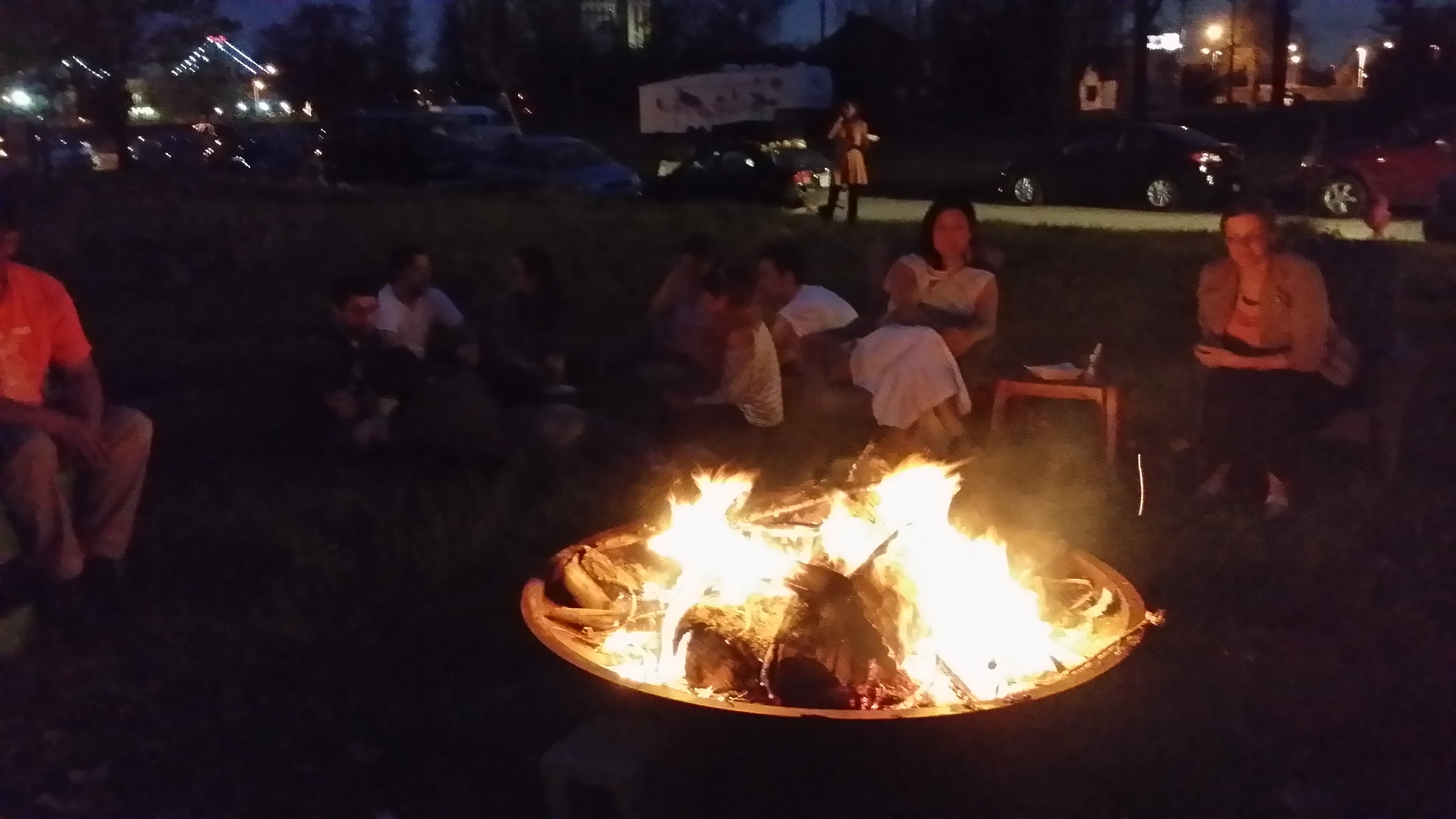 the bonfire! always nice to gather around it, now more necessary than ever