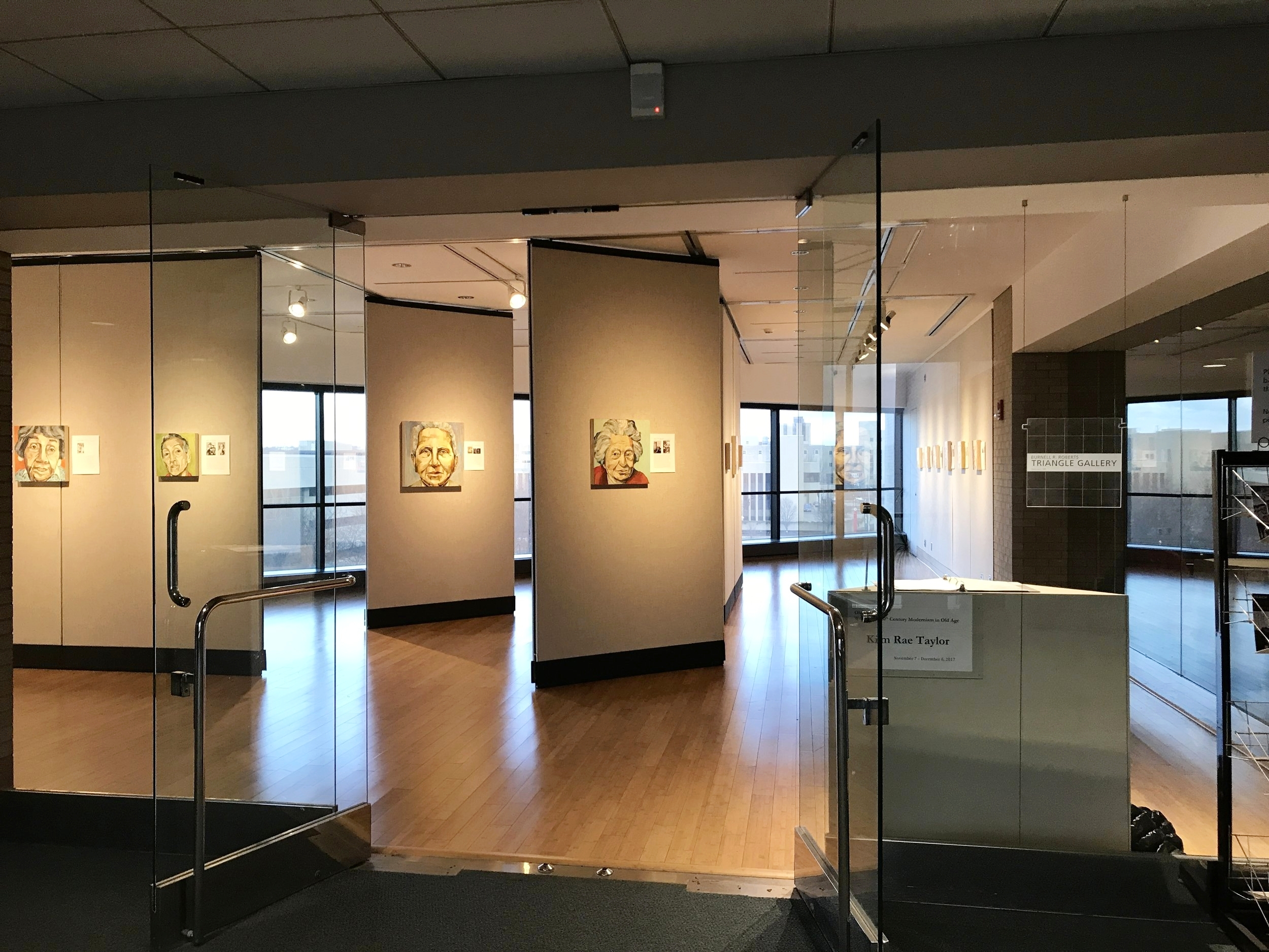 Exhibition view, Triangle Gallery at Sinclair College, Dayton, Ohio. Nov 7--Dec 7, 2017