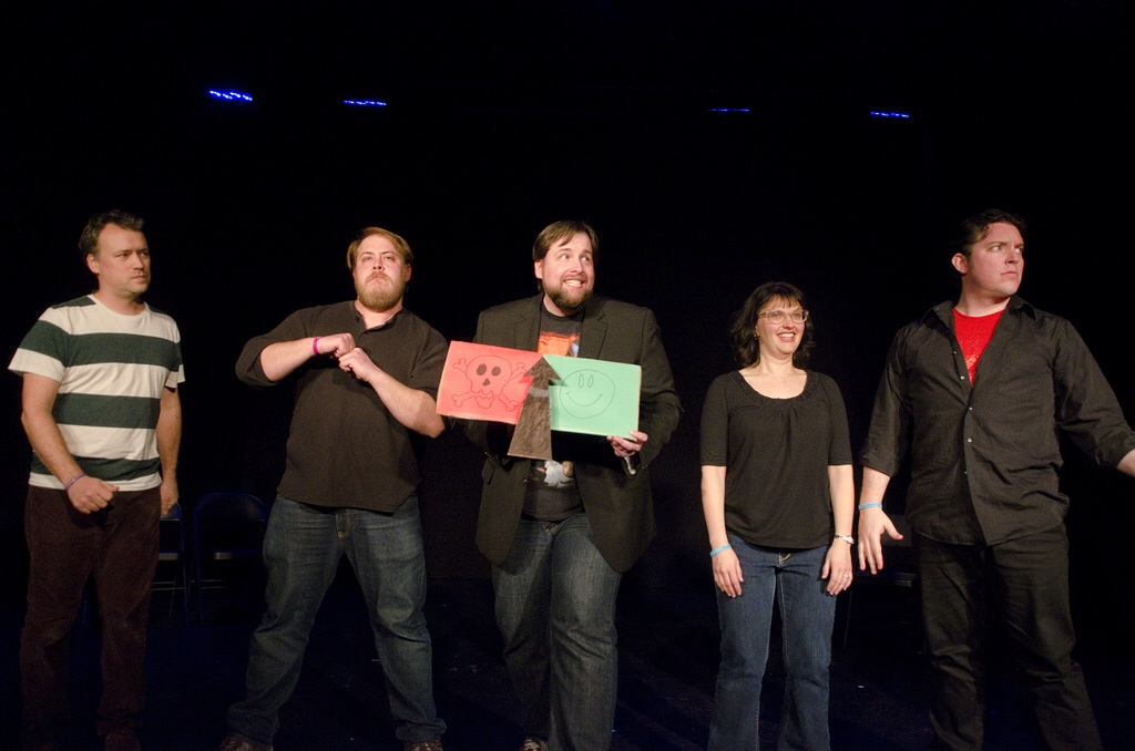 The comedy competitors of Joke Kune Do at Onyx Theatre.