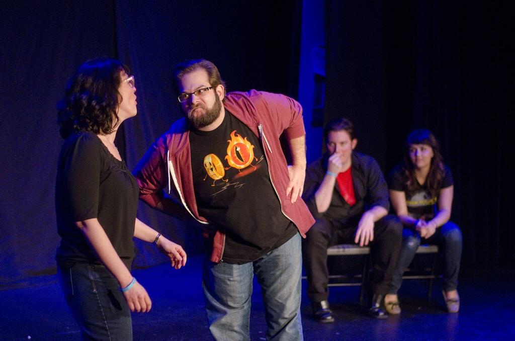 Natalie Shipman and Ross Horvitz at Joke Kune Do.
