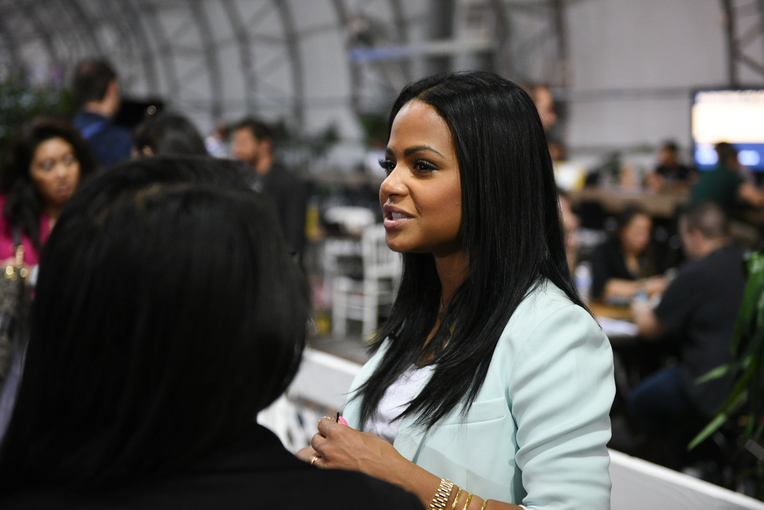Christina Milian was a speaker at Collision Conference. She shared her experiences as an investor in tech and the French Girls app.
