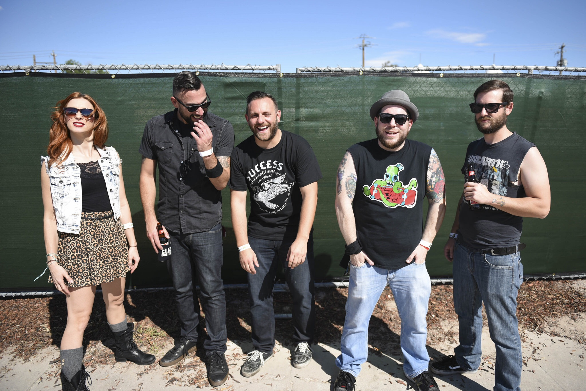 Eliza Battle posed for a photo at Punk Rock Bowling in downtown Las Vegas.