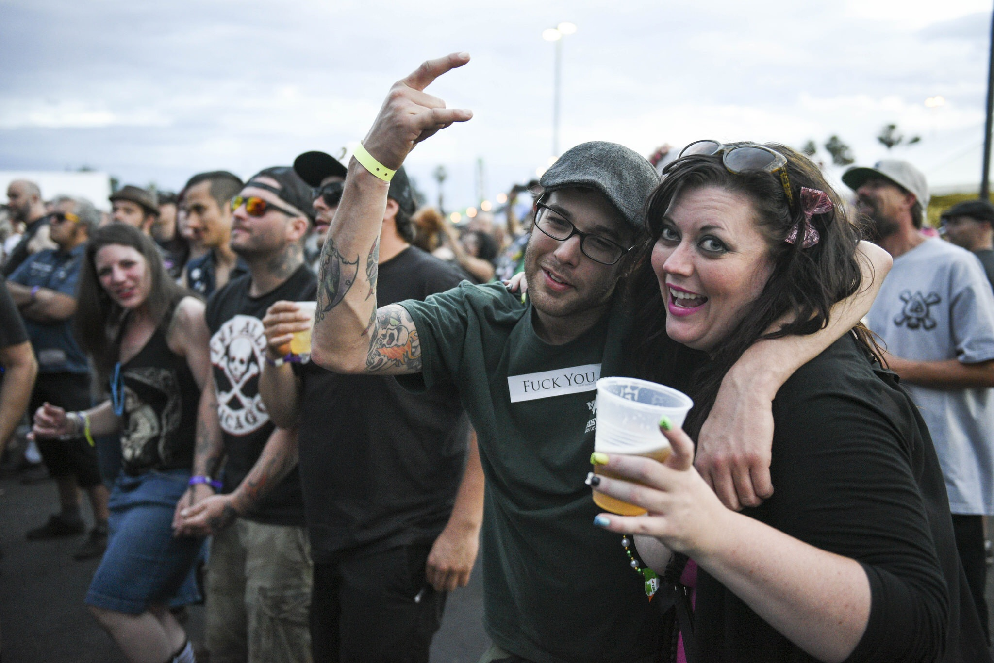 The audience during Jello Biafra & The Guantanamo School Of Medicine's set.