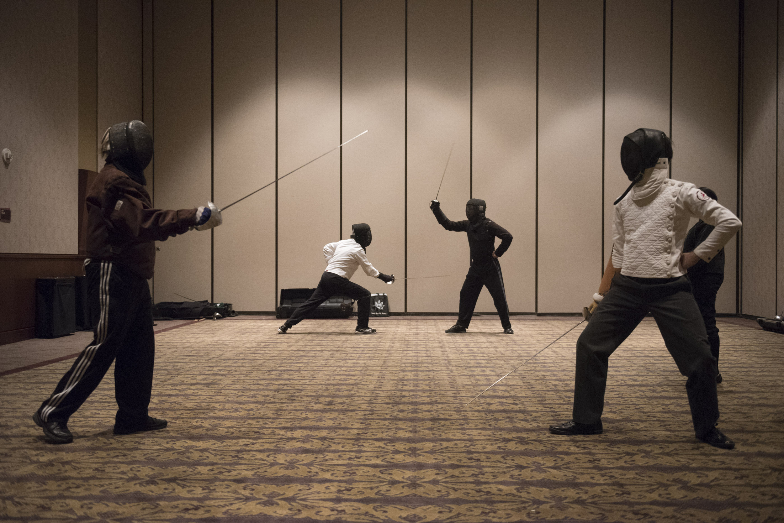 A fencing demonstration is given at CombatCon at The Palms Resort and Casino in Las Vegas, Saturday, June 27, 2015.(Jason Ogulnik/Las Vegas Review-Journal)