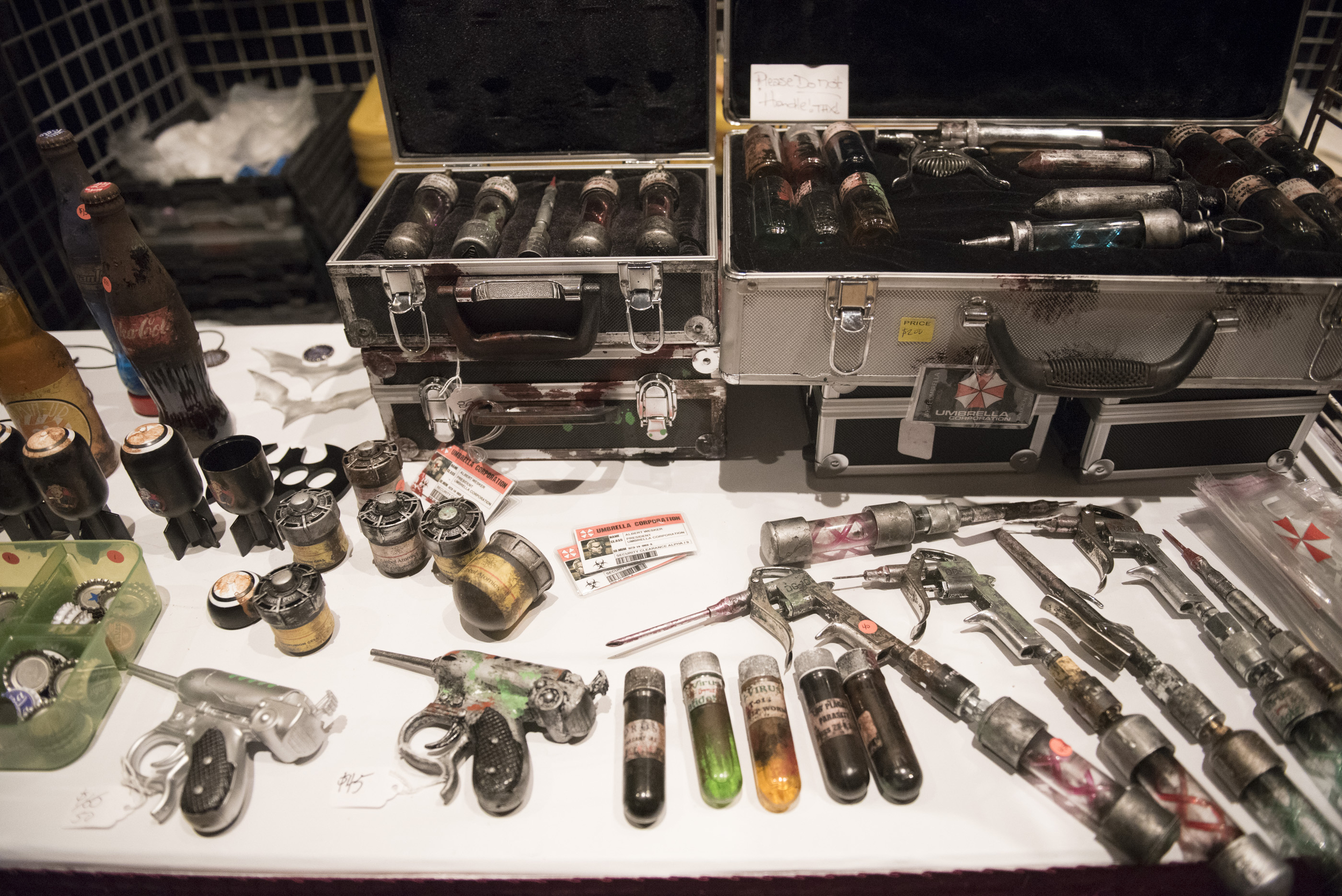 A vendordisplays their goods on the conference floor at CombatCon at The Palms Resort and Casino in Las Vegas, Saturday, June 27, 2015.(Jason Ogulnik/Las Vegas Review-Journal)