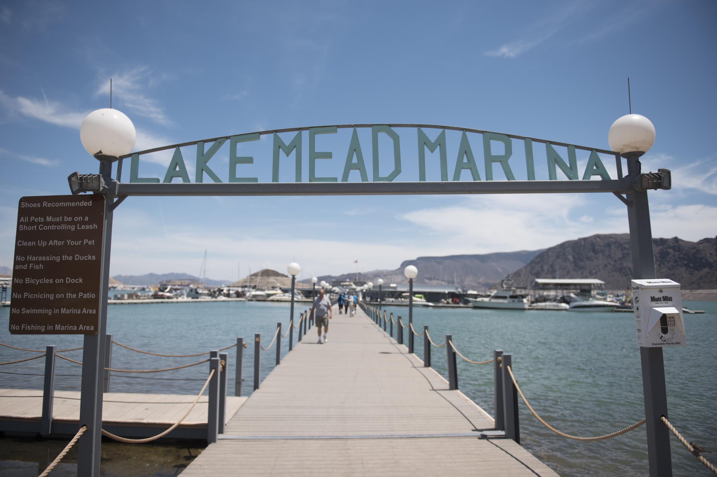 Lake Mead Marina is shown in Boulder City, Friday, July 3, 2015.(Jason Ogulnik/Las Vegas Review-Journal)