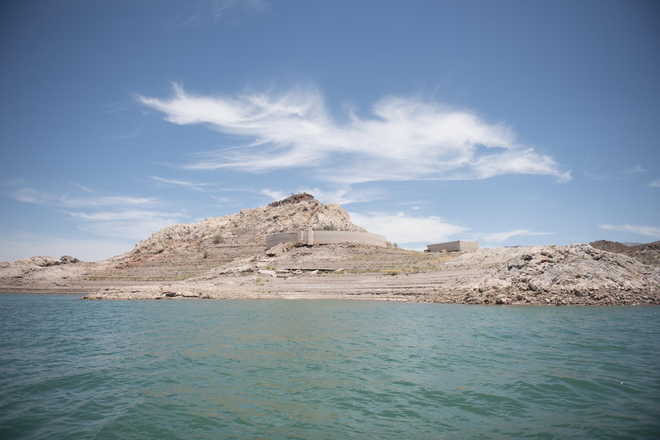 Lake Mead's receding waterline is shown in Boulder City, Friday, July 3, 2015.(Jason Ogulnik/Las Vegas Review-Journal)