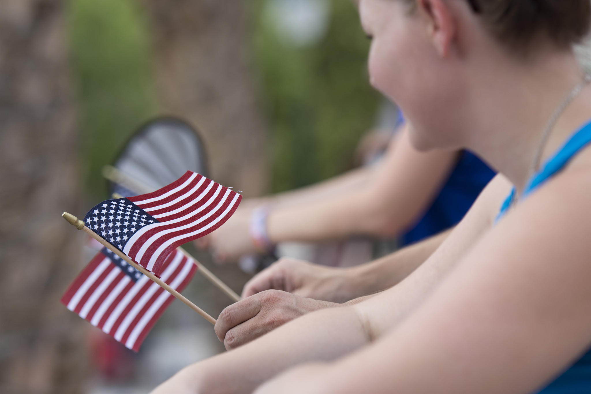 Flags were waved during the Fourth of July parade during the 67th Annual Boulder City Damboree Celebration in Boulder City, Saturday, July 4, 2015.(JASON OGULNIK/BOULDER CITY REVIEW)