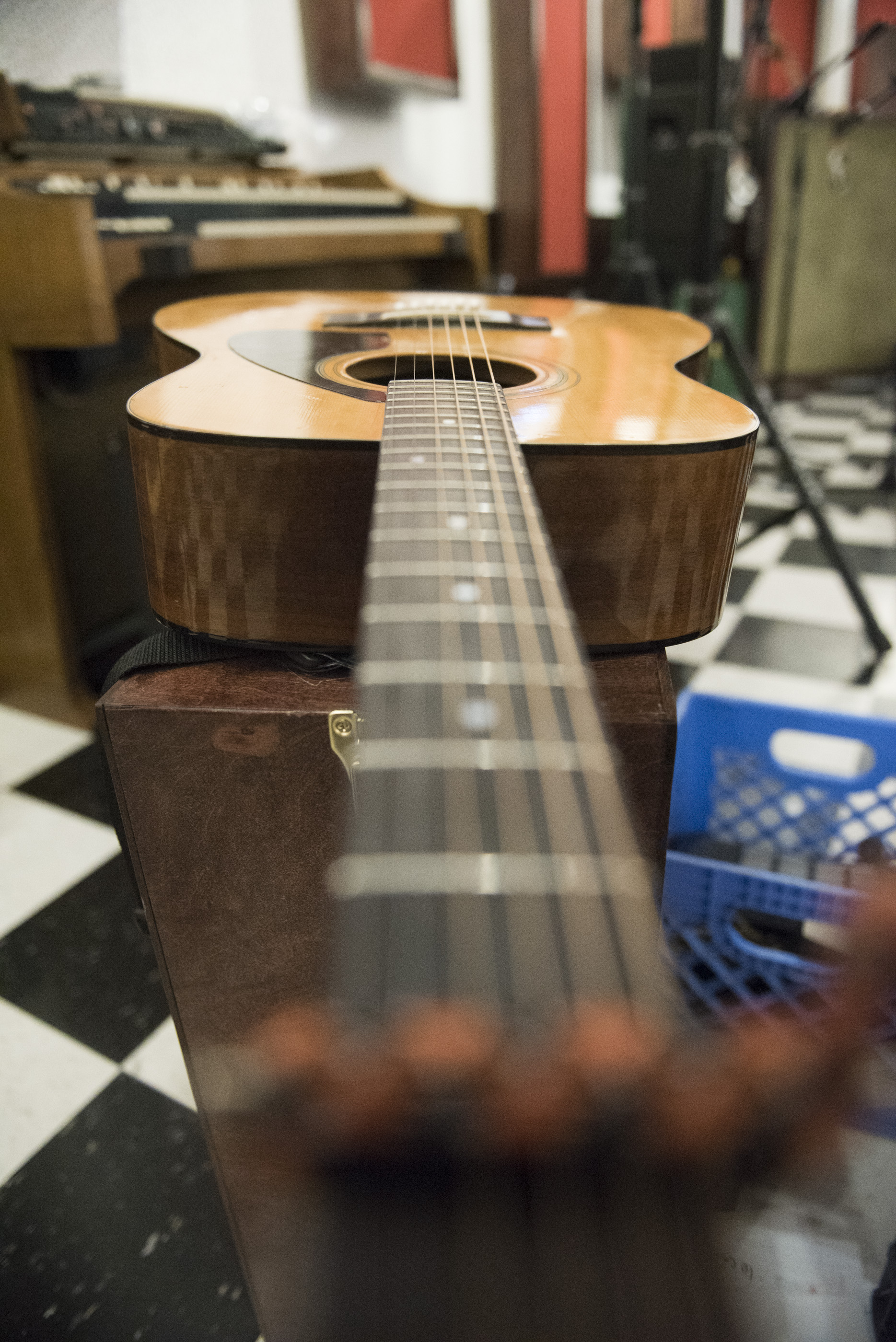 A guitar is shown at National Southwestern Recording in Las Vegas, Thursday, July 16, 2015.(Jason Ogulnik/Las Vegas Review-Journal)