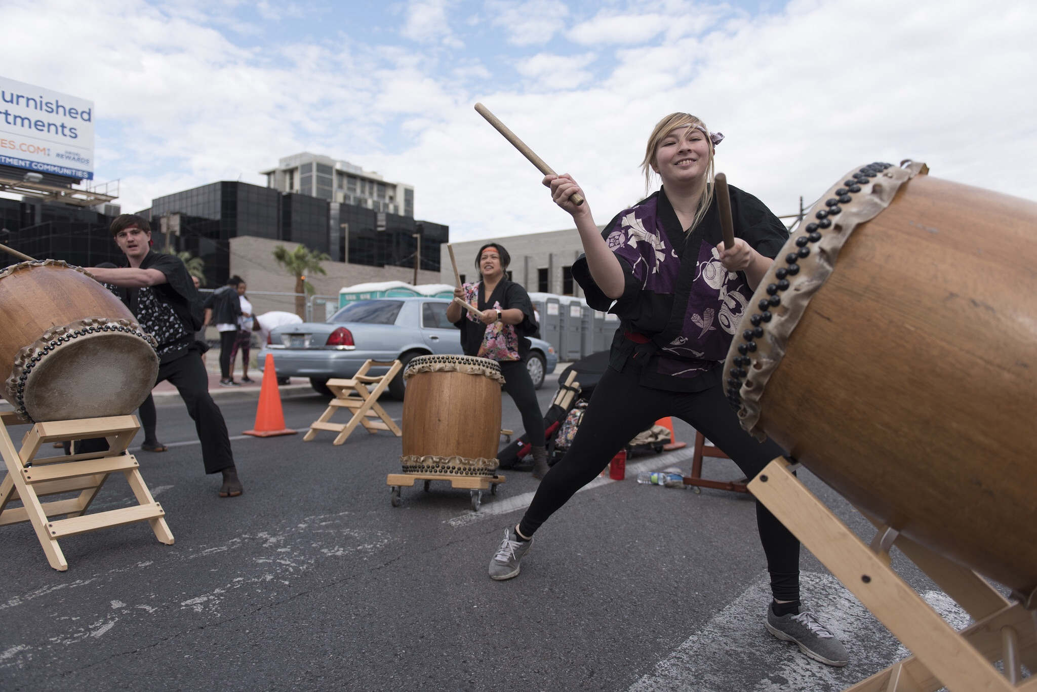 Las Vegas Kaminari Taiko performs at the start line during the Susan G. Komen Race for the Cure in downtown Las Vegas on Saturday, May 7, 2016. The event raises funds for breast cancer awareness, research and treatment. Jason Ogulnik/Las Vegas Review-Journal
