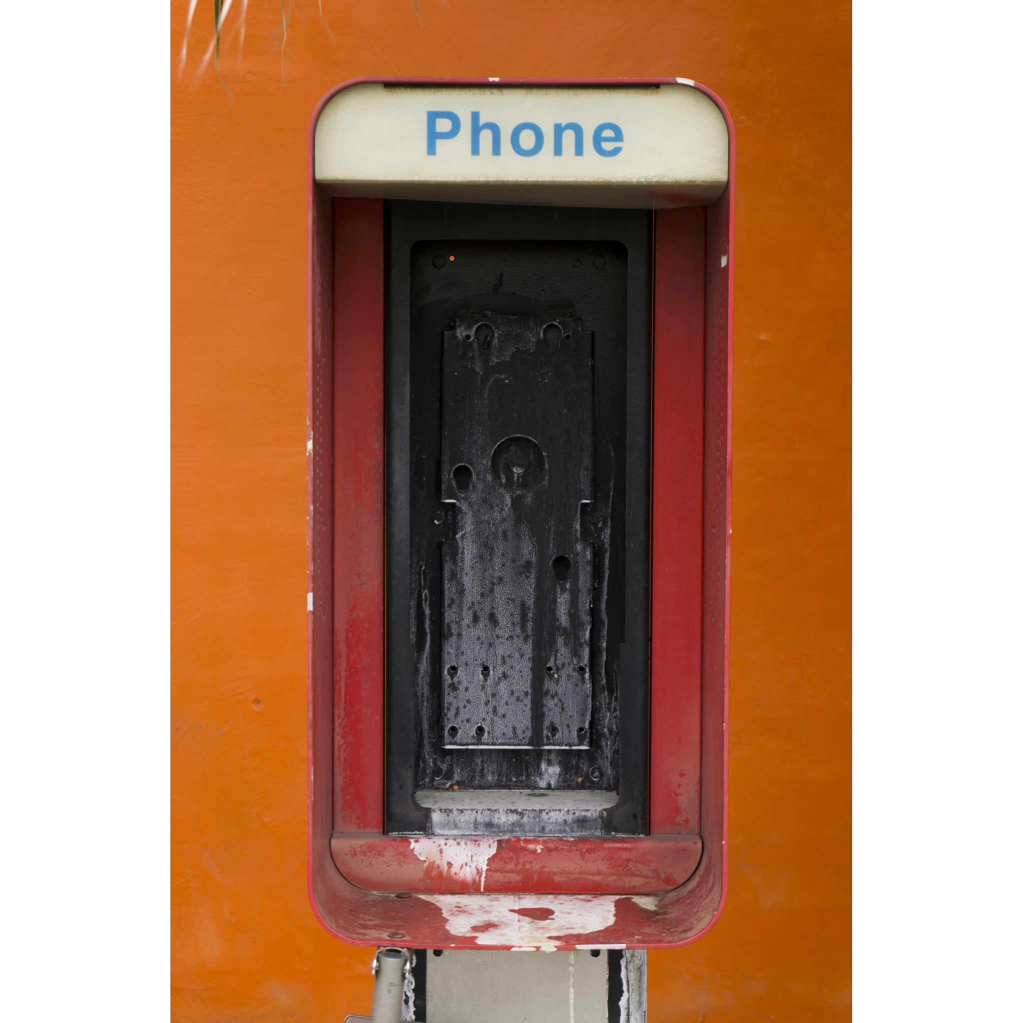 A payphone shell is seen on Las Vegas Boulevard at Oakey Boulevard in Las Vegas Monday, April 25, 2016.