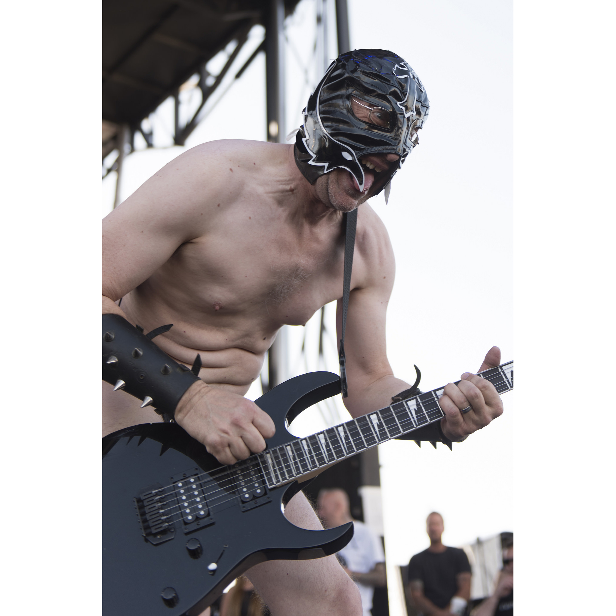 HeWhoCannotBeNamed performs with the Dwarves during the 18th annual Punk Rock Bowling & Music Festival in downtown Las Vegas Sunday, May 29, 2016.