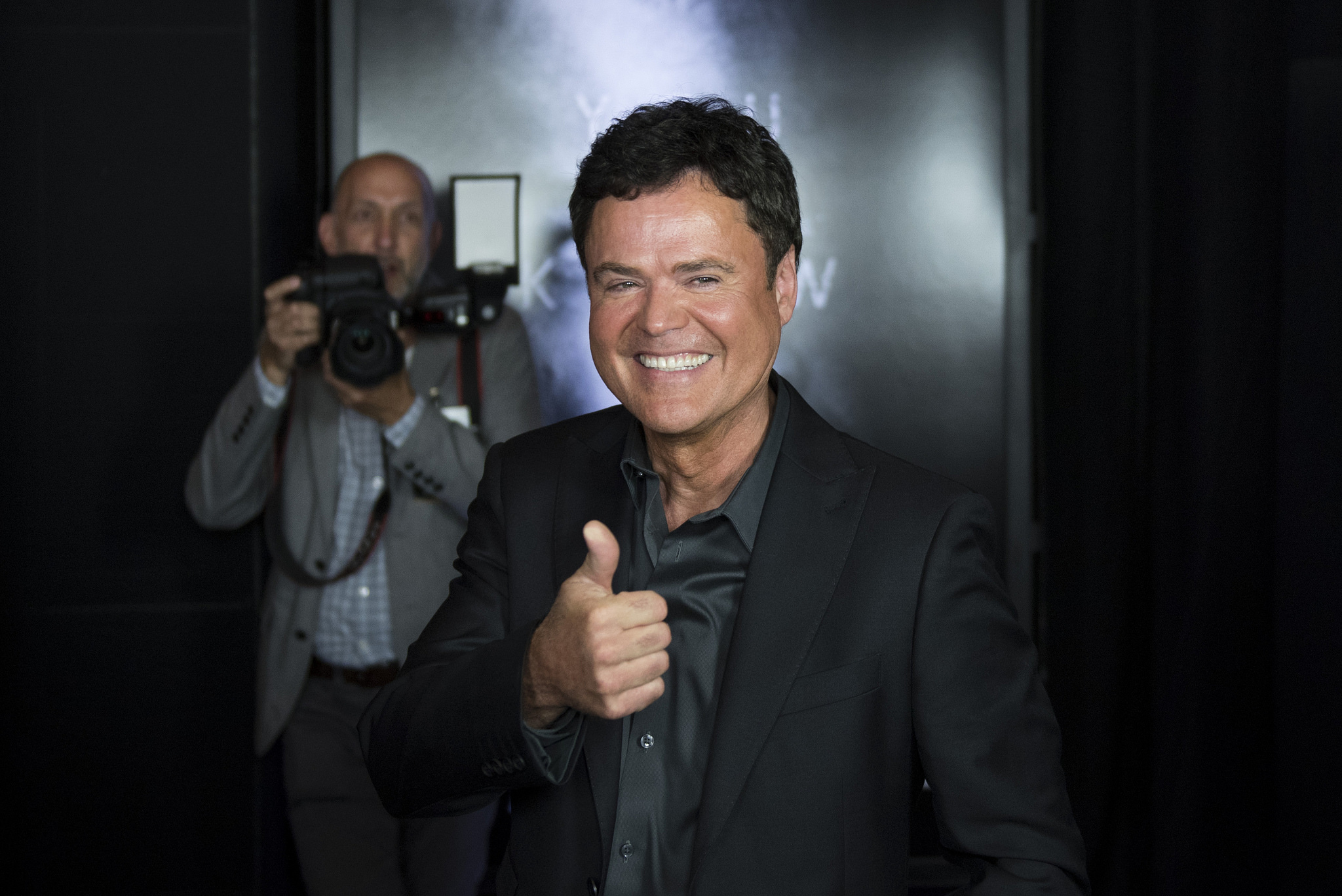 Donny Osmond poses on the red carpet ahead of the Las Vegas premiere for the film Jason Bourne at Caesars Palace hotel-casino Monday, July 18, 2016. Jason Ogulnik/Las Vegas Review-Journal