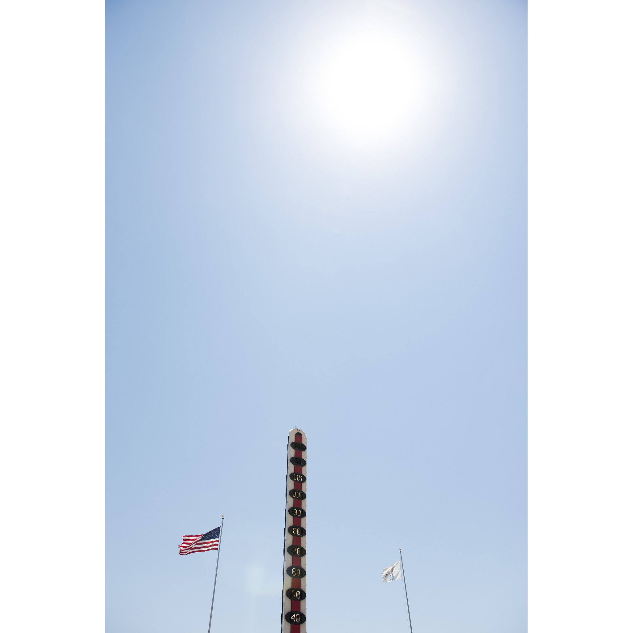 The World's Tallest Thermometer, located in Baker, Calif., reads 115 degrees Wednesday, July 27, 2016. The high temperature for Baker reached 114 degrees according to the National Weather Service.