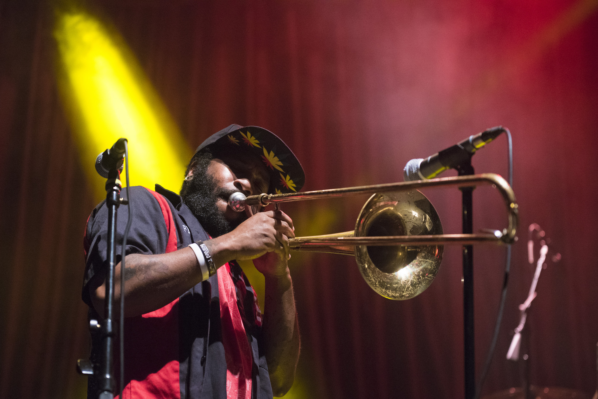 Jay Armant performs with Fishbone at Brooklyn Bowl in Las Vegas on Saturday, June 27, 2015.
