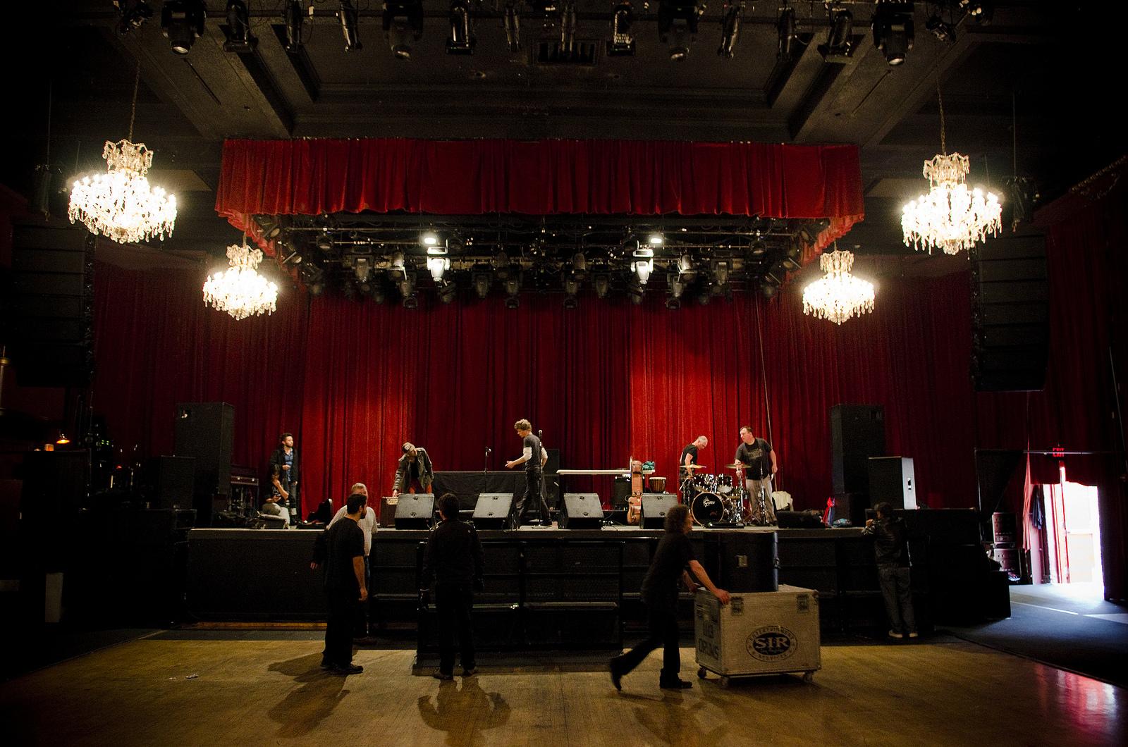 Vinyl Soul loads into The Fillmore in San Francisco, Friday, April 5, 2013.