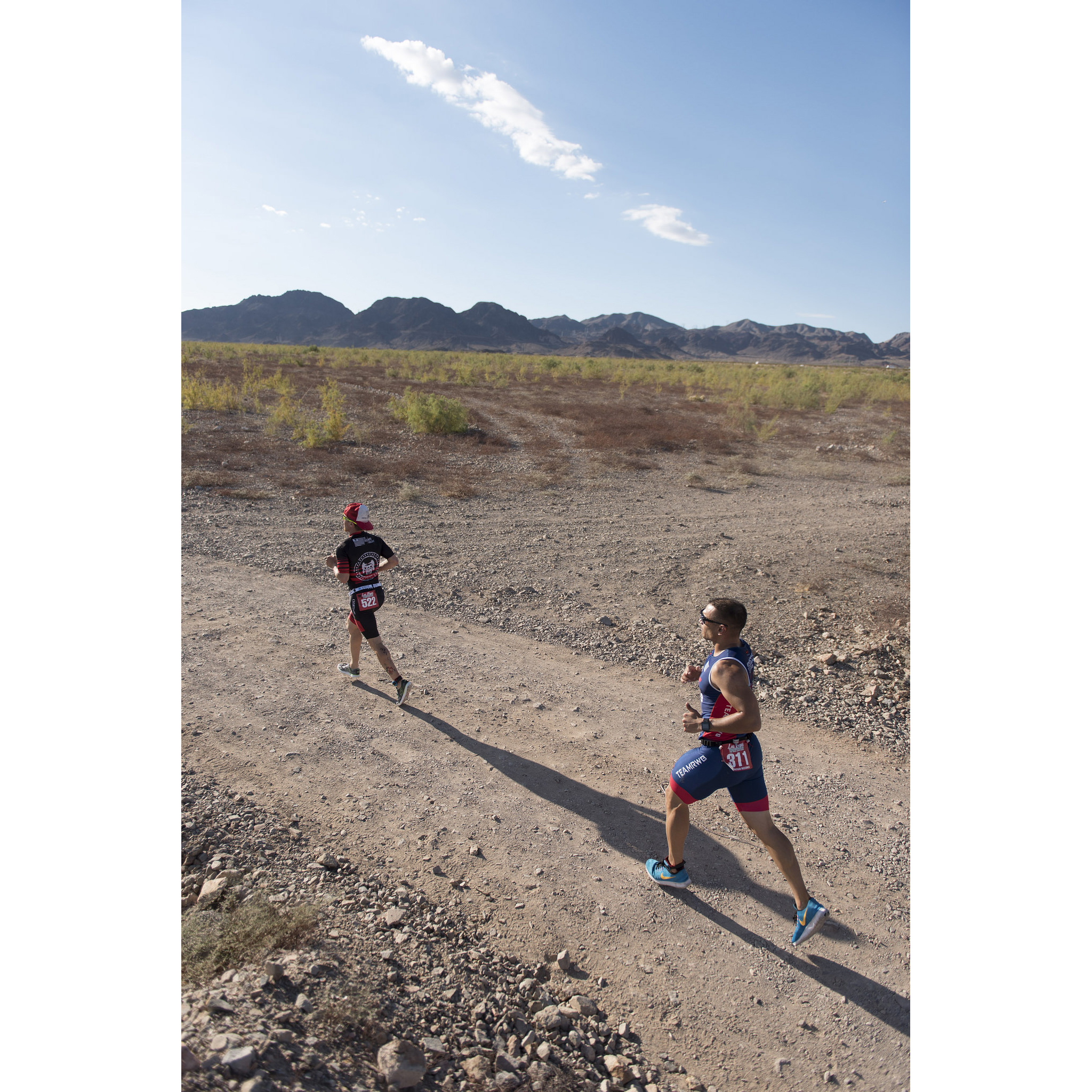 Runners participate in the third leg of the Las Vegas Triathlon at Lake Mead near Boulder City, Saturday, Oct. 1, 2016. Jason Ogulnik/Las Vegas Review-Journal