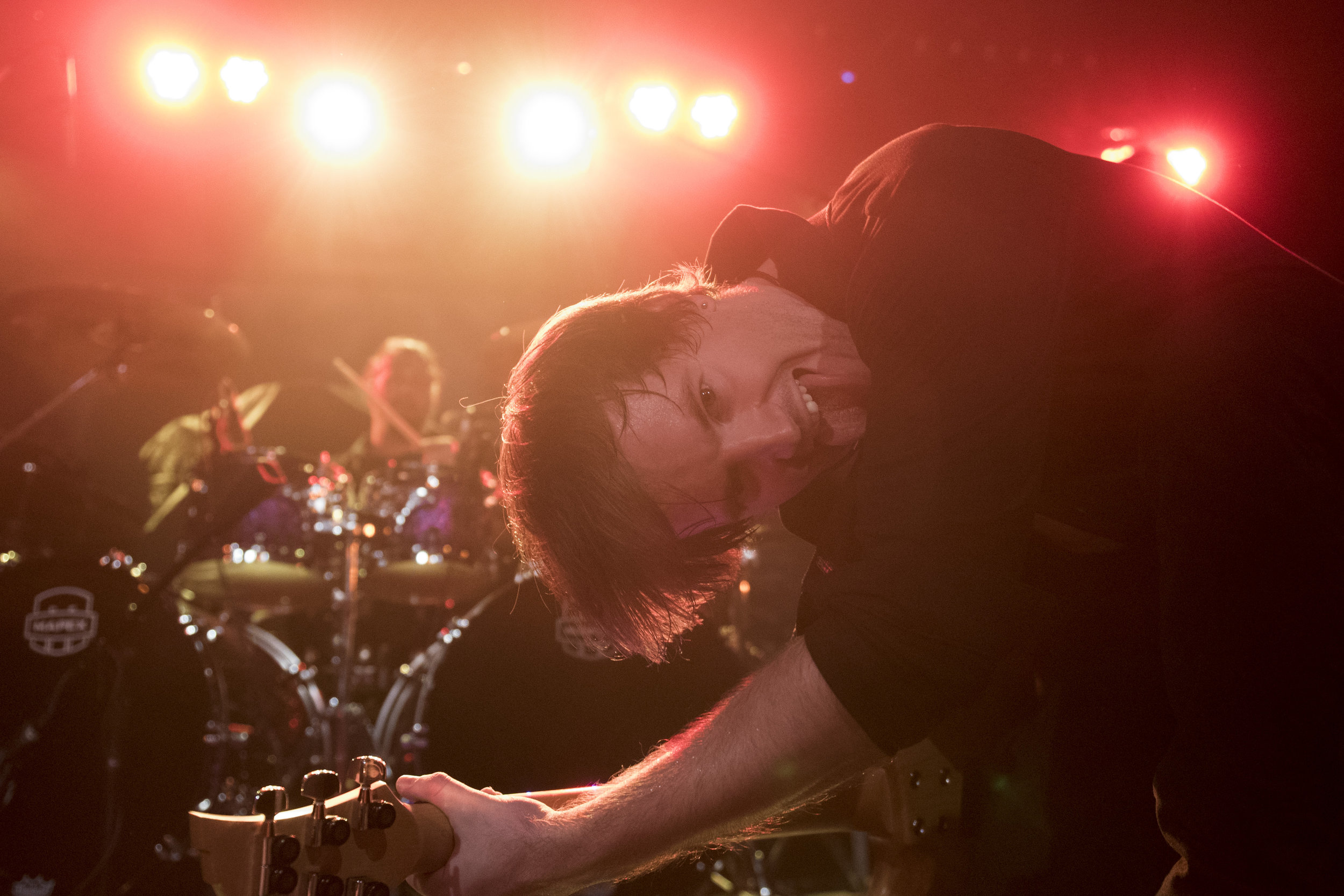 Adam Edwards performs with Honor Amongst Thieves at Vinyl in Las Vegas, Nev., Sept. 15, 2017.