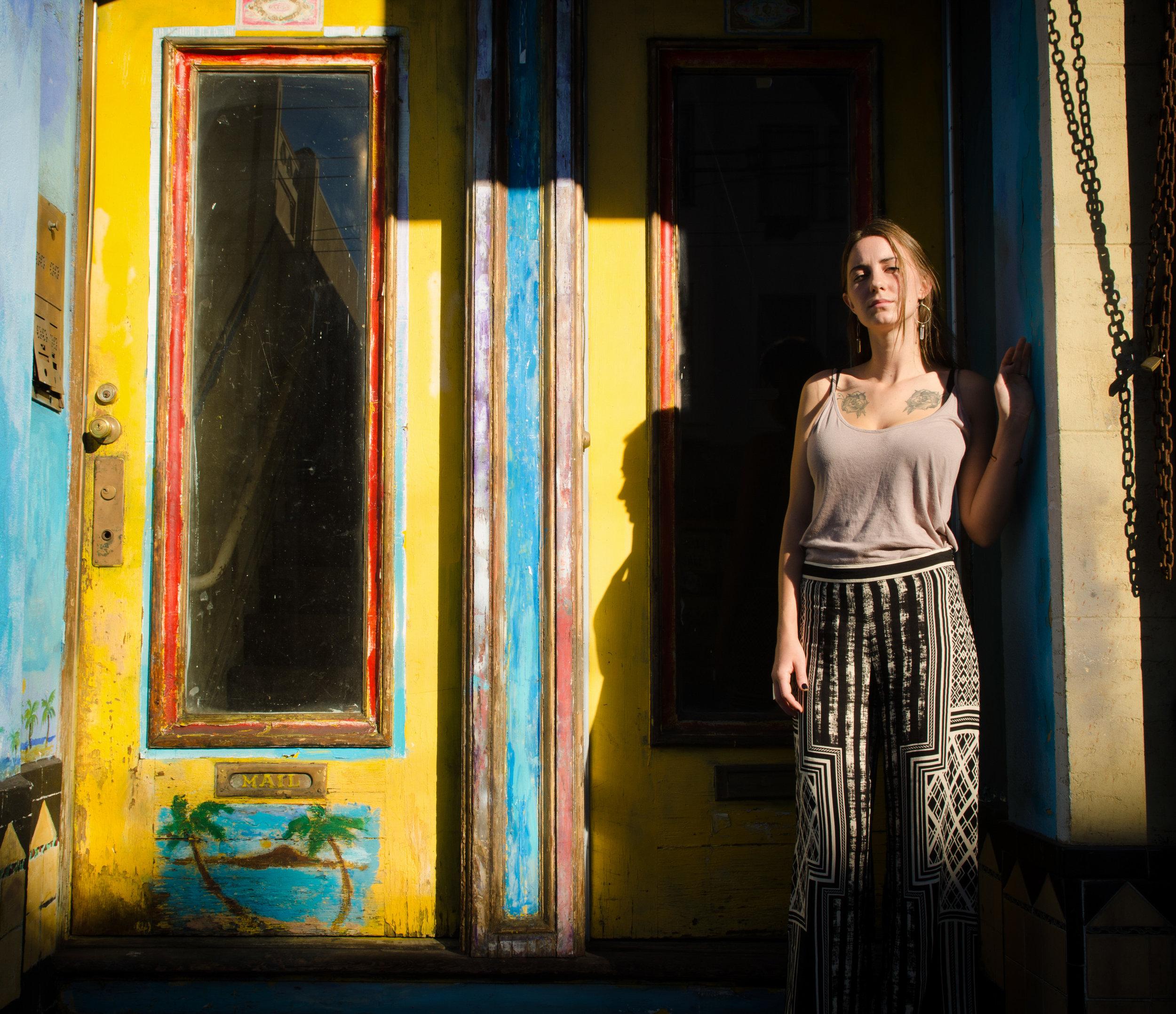 Angelica Rockne poses on Stockton Street near Columbus Avenue in San Francisco, Calif..