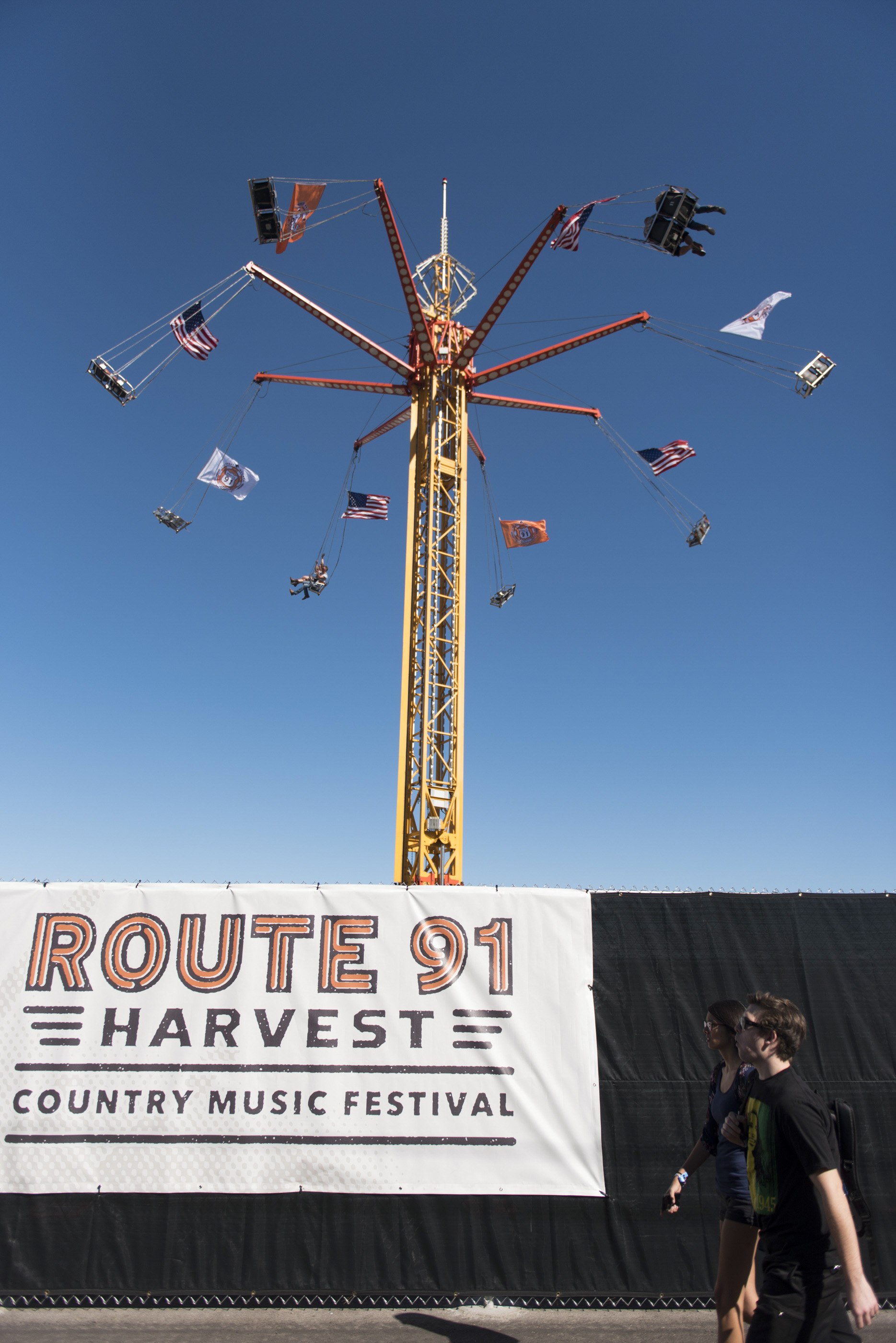 Concert goers arrive at the Route 91 Harvest Country Music Festival.