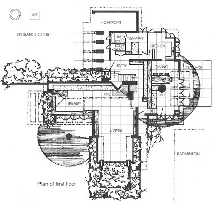 Frank Lloyd Wright Ben Rebhuhn House Floorplan 1.jpg