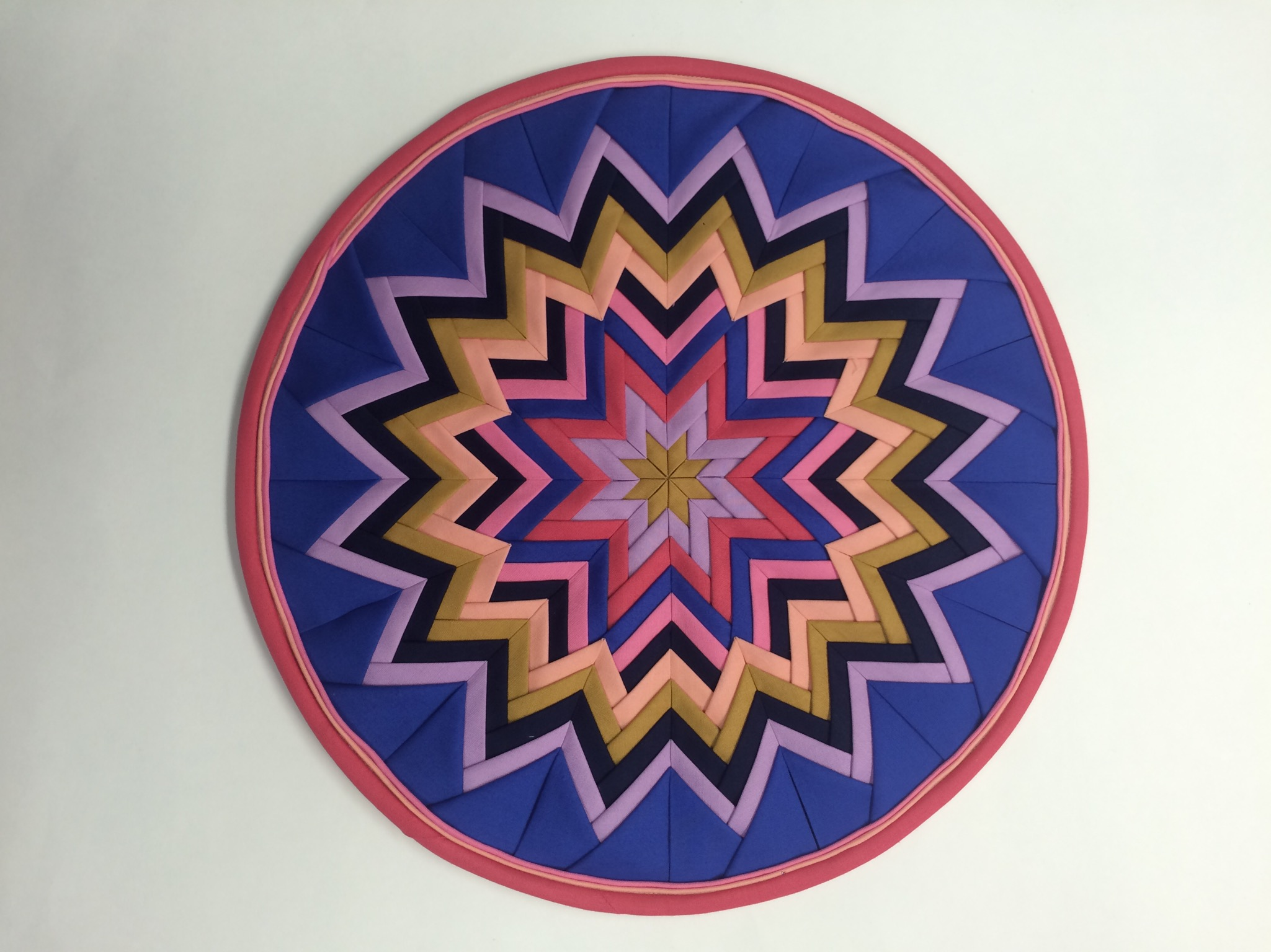 """Finished project measures 15"""" in diameter."""