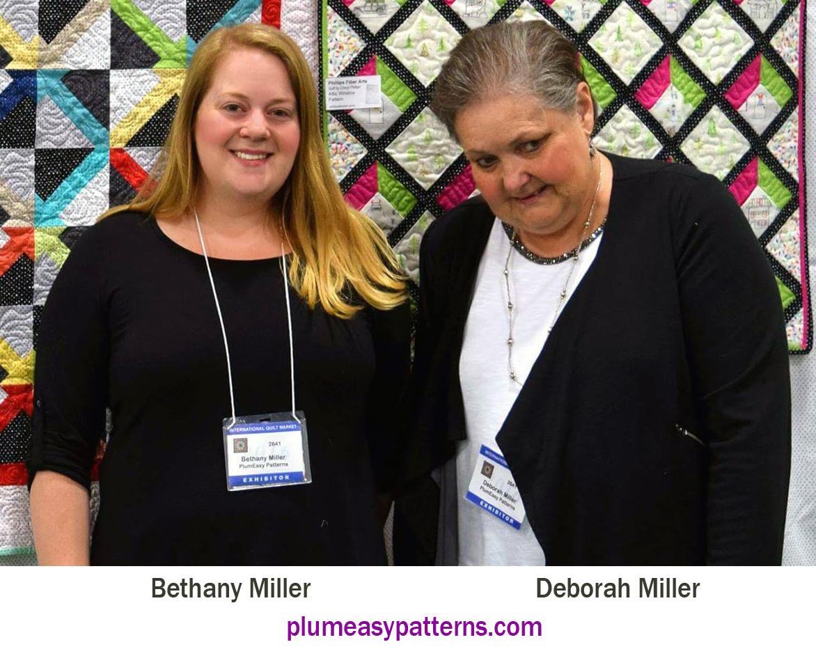Bethany (left) and Deborah Miller (right) at Spring Quilt Market 2016