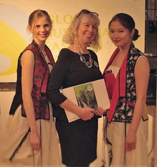 Dr. Gabriella Walek (center), Pres. of National Fashion League and of Global Sustainable Fashion Week
