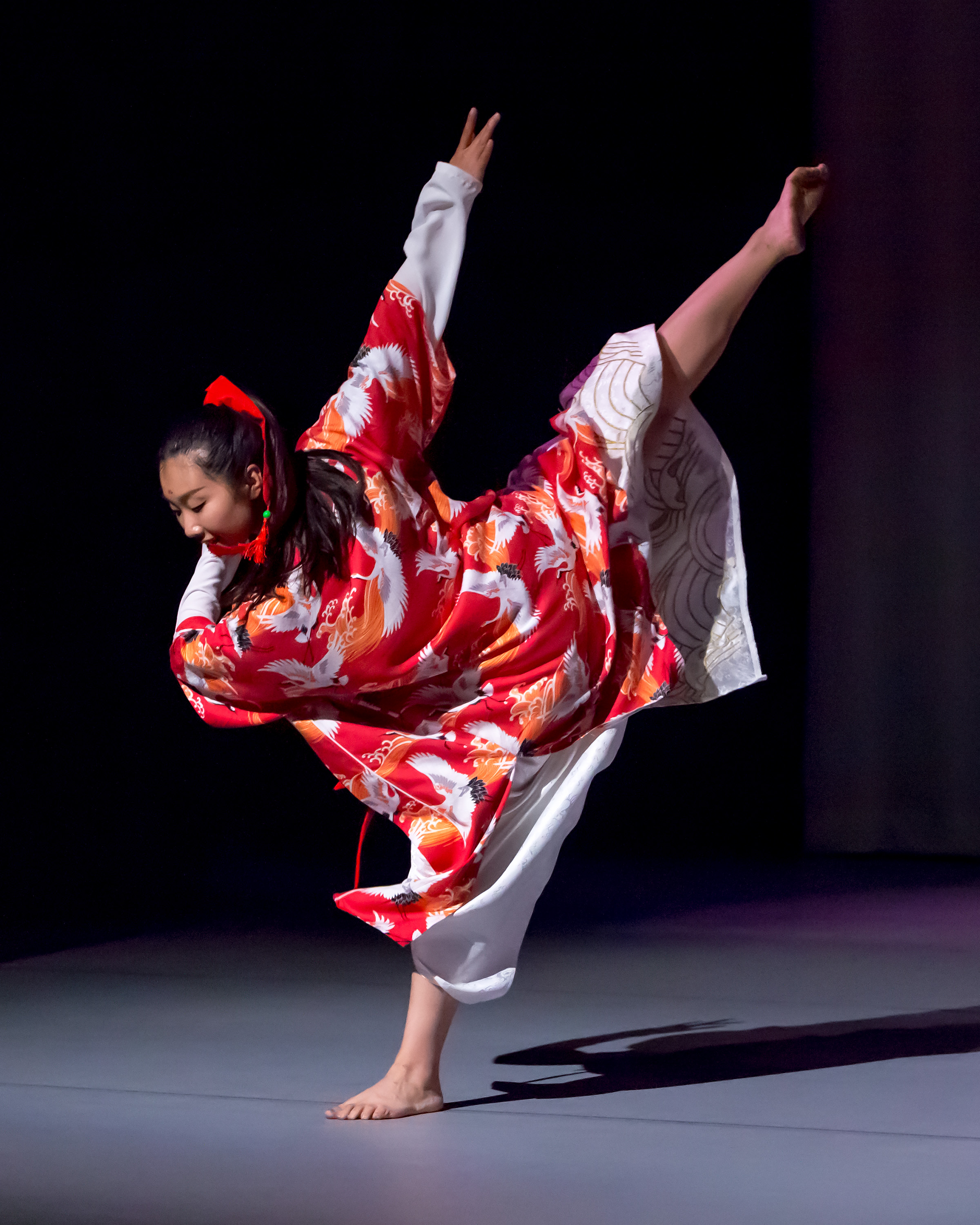 "Choreographer and dancer, Jingqiu Guan, in ""Lord of the Cranes"""
