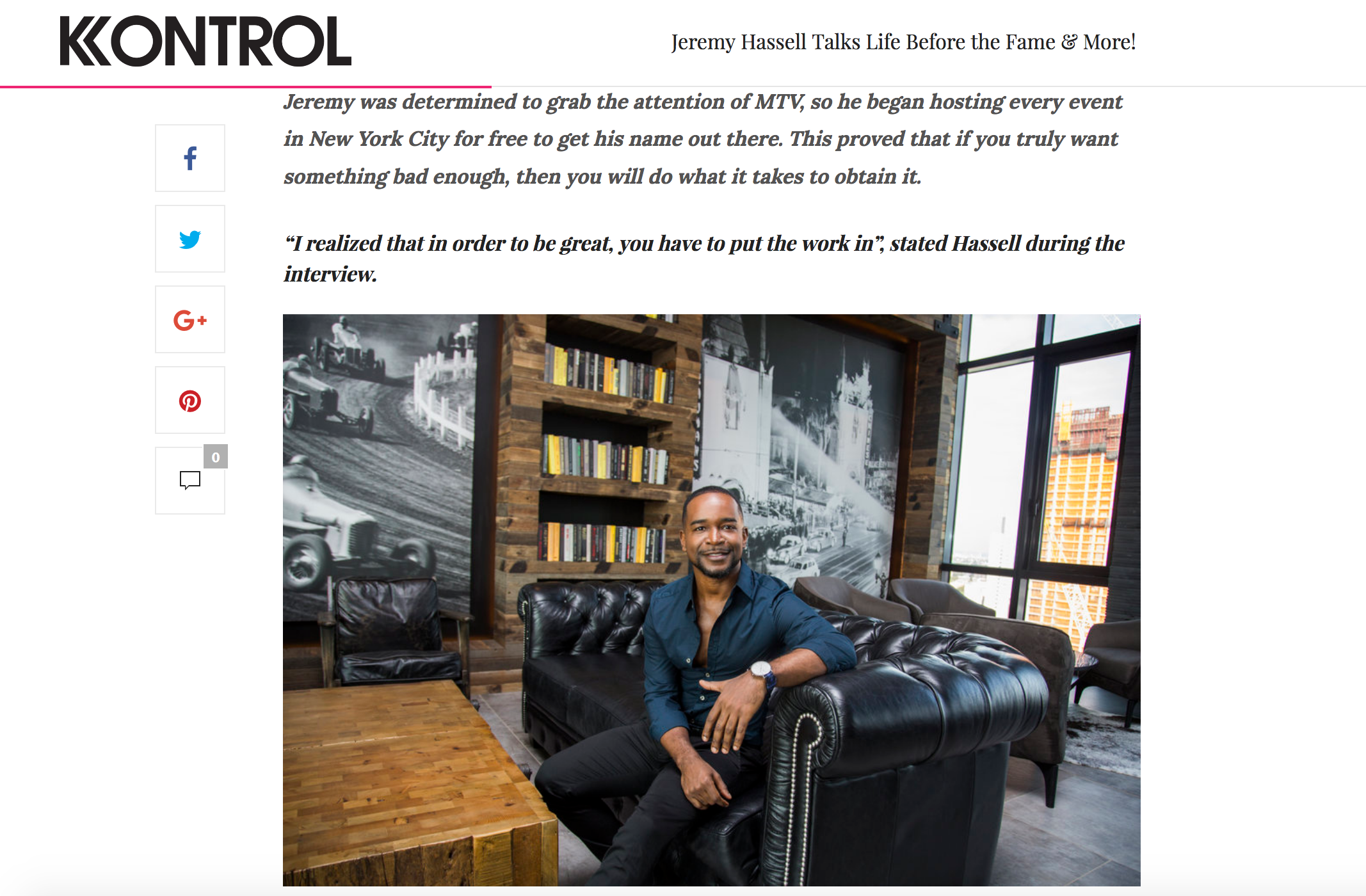 Jeremy Hassell Interview KONTROL MAGAZINE