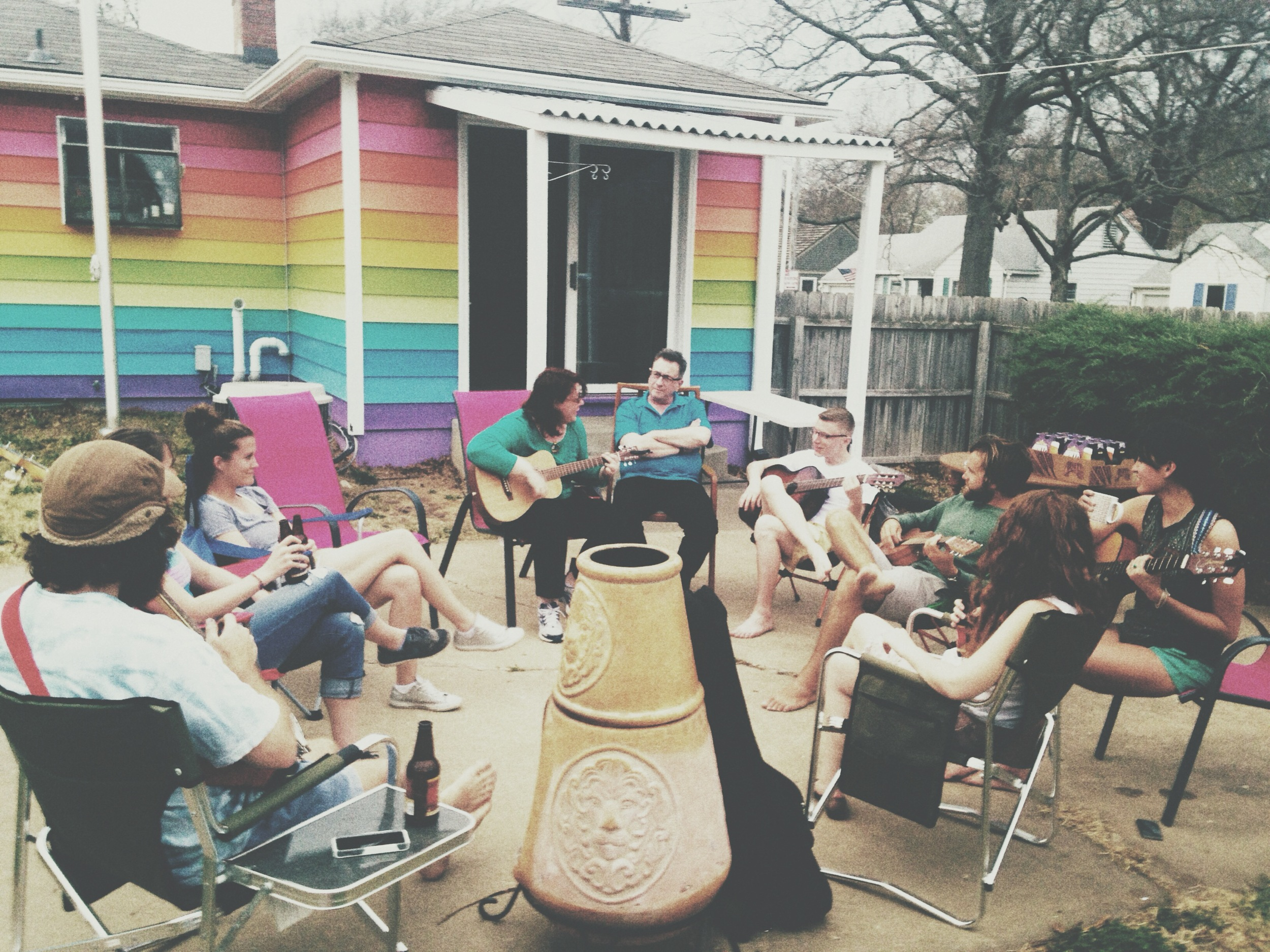 Our last night together spent outside making music with the ones we love.