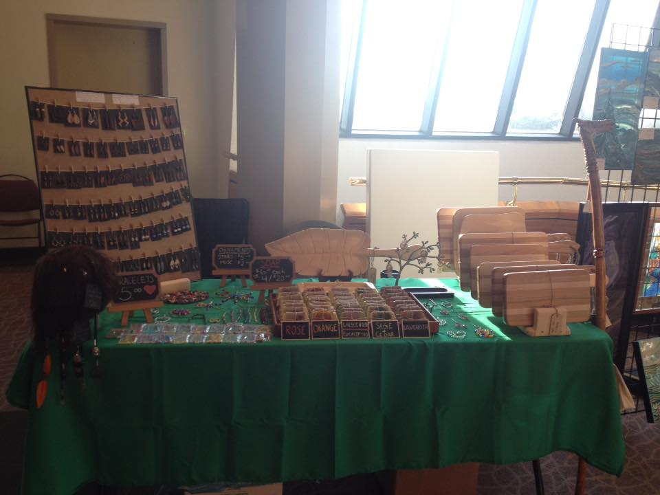 December 2017 Craft Show table