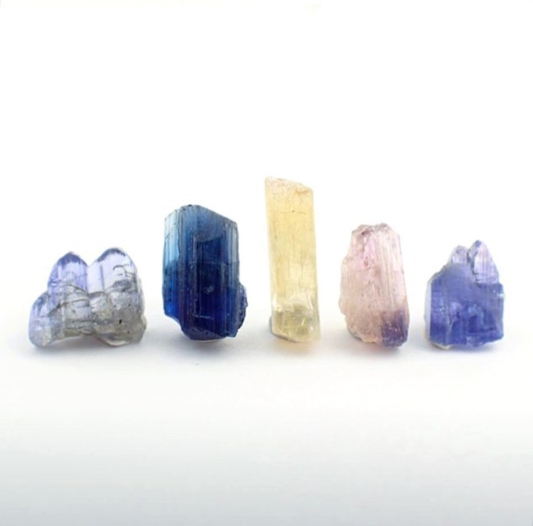 Tanzanite crystals from @structure_minerals