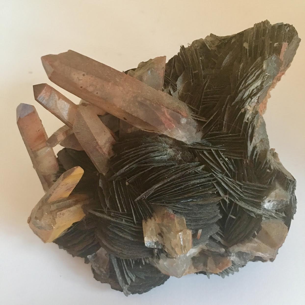 :: Scalloped Hematite with Red Quartz ::