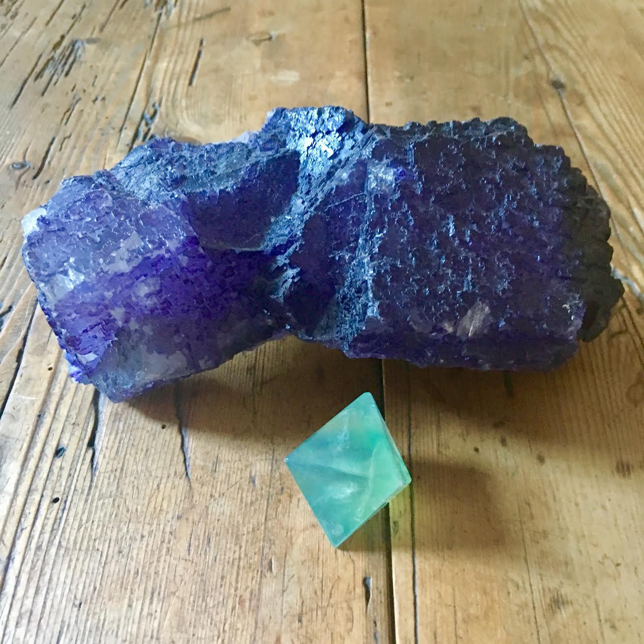 :: purple & green Fluorite ::