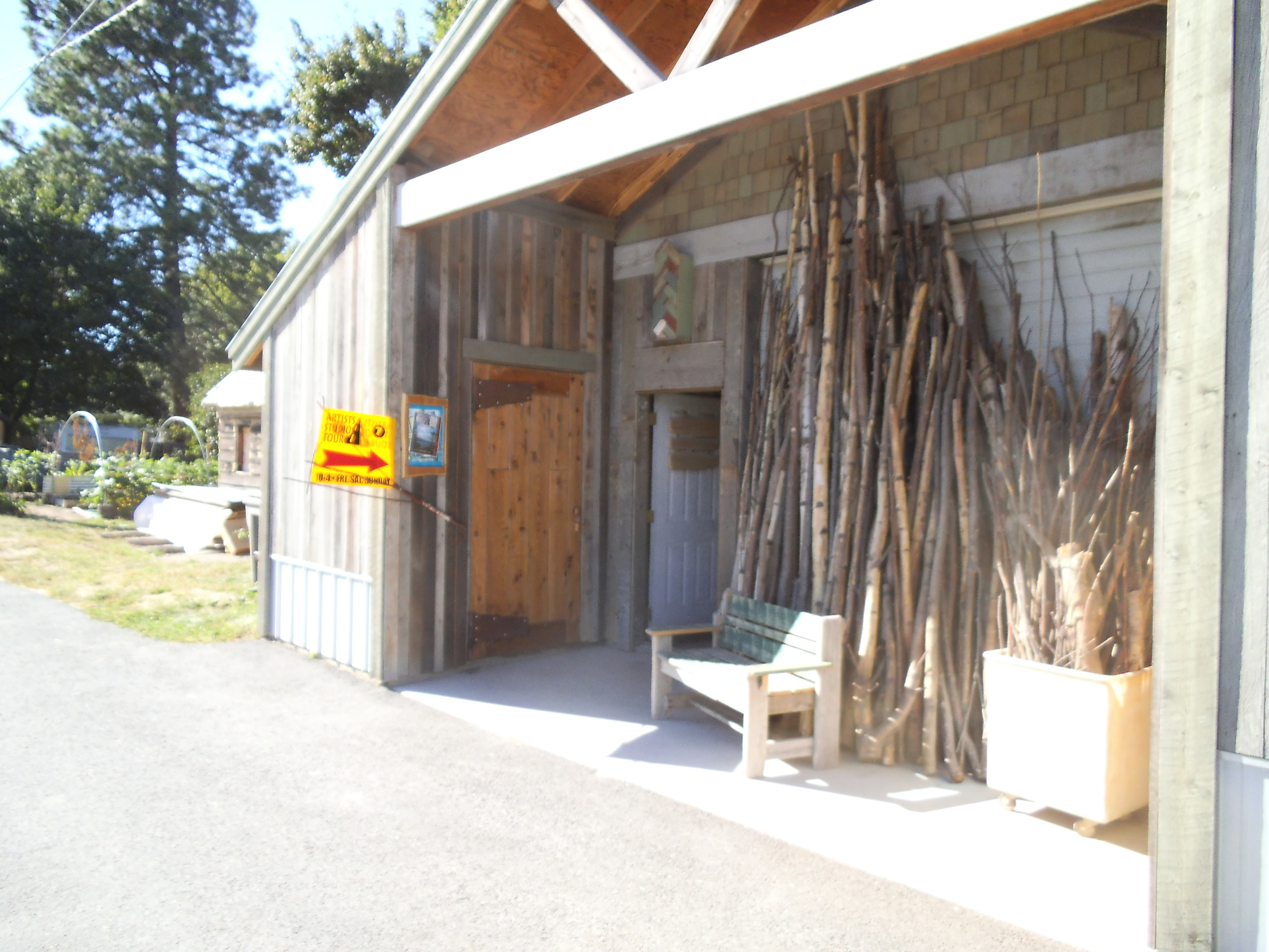 Rob Payne Organic Artist Studio Entrance