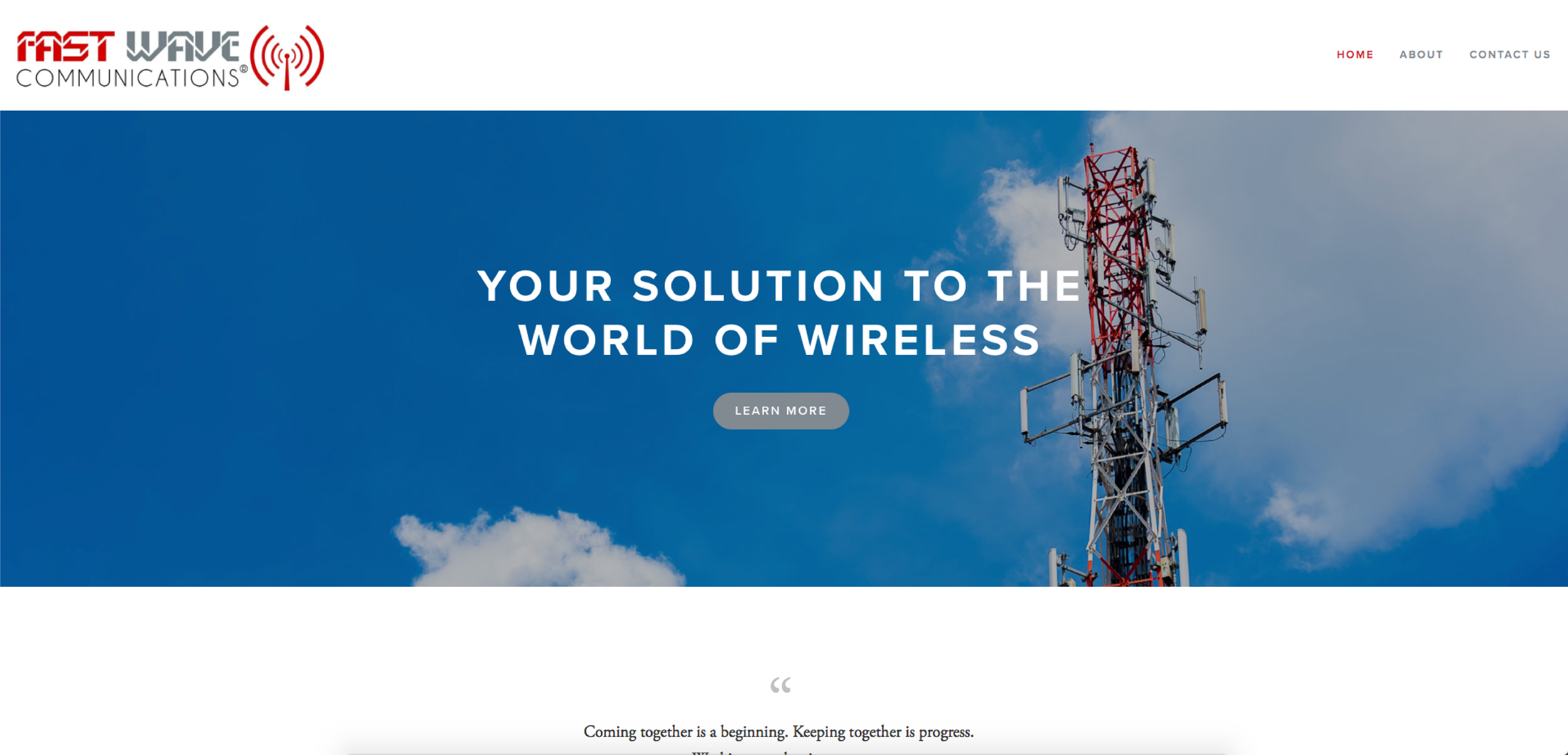FAST WAVE COMMUNICATIONS - WEBSITE DESIGN BY BLISS CREATIVE ATLANTA, 2017