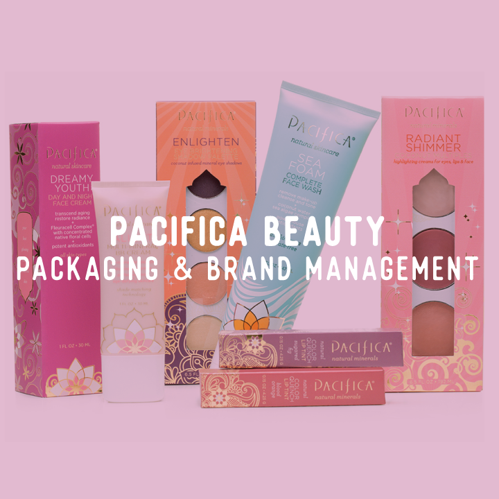 Pacifica Beauty, Packaging Design, Brand Management, Illustration